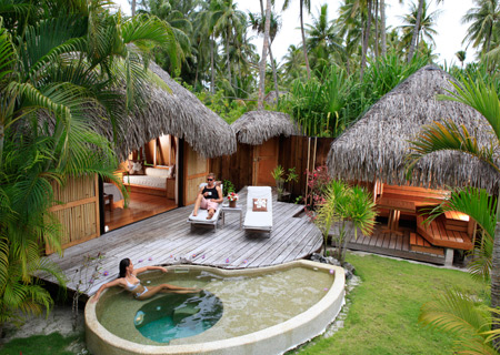 Tahiti specials for Garden pool bungalow
